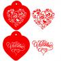 Комплект шаблони - Валентински сърца - 2 бр