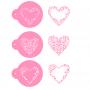 Комплект шаблони - Грациозни сърца - 3 бр