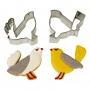 MeriMeri - Комплект метални резци - Влюбени птичета