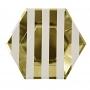 MeriMeri - Комплект парти чинии - Златни раета - 8 бр.