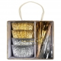 MeriMeri - Комплект за мъфини - Злато и сребро