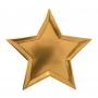 MeriMeri - Комплект парти чинии - Златна звезда - 8 бр