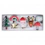 MeriMeri - Комплект метални мини резци - Коледни любимци