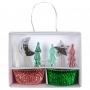 MeriMeri - Комплект за мъфини - Празнични елхи