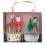 MeriMeri - Комплект за мъфини - Веселият Дядо Коледа