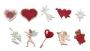 Комплект резци и щампи - Сърца и херувимчета - 10 бр