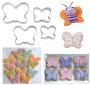 Комплект метални резци - Пеперуди - 4 бр