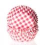 Хартиени форми за мъфини и кексчета - Червено каре - 50 бр