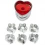 Комплект резци за Линцер сладки - Сърце - 7 бр