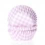 Хартиени форми за мъфини и кексчета - Розово каре - 50 бр
