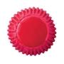 Чашки за бонбони - Червено фолио - 75 бр