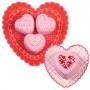 Комплект декоративни подложки - Сърце - 6 бр