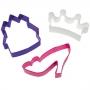 Комплект метални цветни резци - Принцеса - 3 бр