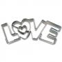 Метален резец - Love - 7.5 см