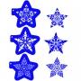 Комплект шаблони - Празнични звезди - 3 бр