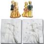 Силиконов калъп - 3D Младоженци - 7 см