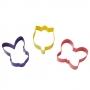 Комплект метални цветни резци - Великден и пролет - 3 бр