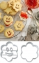 Smiley set flower 5.5 cm stainless steel