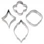 Комплект резци и текстурни подложки - Геомитрични фигури - 7 бр