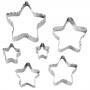 Комплект двустранни метални резци - Звезди - 6 бр