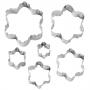 Комплект двустранни метални резци - Цветя - 6 бр