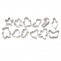 Комплект метални мини резци - Коледа - 12 бр