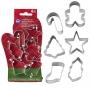 Комплект метални мини резци - Коледна ръкавичка - 6 бр