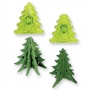 Комплект резци и щампи - 3D Коледна елха - 2 бр