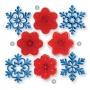 Комплект резци и щампи - Коледни снежинки - 4 бр
