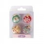 Захарни декорации - Коледни орнаменти - 12 бр