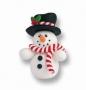 Декорация от цветна глина - Снежен човек - 5 см