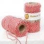 Готварски конец за печене - Червено и бяло - 20 м