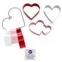 Комплект метални цветни резци - Св. Валентин - 3 бр
