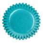 Чашки за бонбони - Синьо фолио - 75 бр