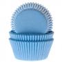 Хартиени форми за мъфини и кексчета - Светло сини - 50 бр