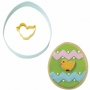 Комплект метални цветни резци - Яйце и пиленце - 2 бр