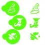 Комплект шаблони - Хелоуин вещица - 3 бр