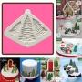 Силиконов калъп - Коледни елхи