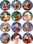 Принт декорация - Коледa в гората - 12 бр