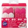 Комплект еднократни форми за печене - Сърдечни пожелания - 12 бр