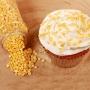Захарни конфети - Металик жълто - 70 гр