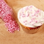 Захарни конфети - Металик розово - 70 гр