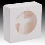 Кутия за 4 мъфина с прозорец и сепаратор - Бяла - 20х20х7,5 см
