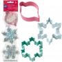 Комплект метални цветни резци - Винтидж Коледа - 3 бр