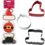 Комплект метални цветни резци - Дядо Коледа - 3 бр