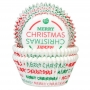 Хартиени форми за мъфини - Merry Christmas - 50 бр