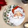 Парти чинии - Botanical Santa - Дядо Коледа