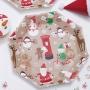 Парти чинии - Santa & Friends - Дядо Коледа и приятели