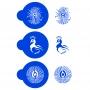 Комплект шаблони - Паунови пера кръг - 3 бр