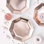 Парти чинии - PICK & MIX - Розово злато
